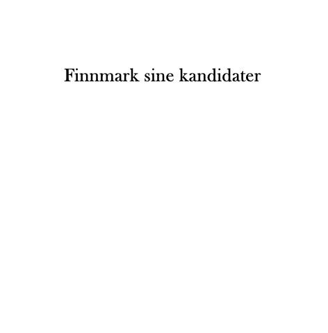 Finnmark sine kandidater