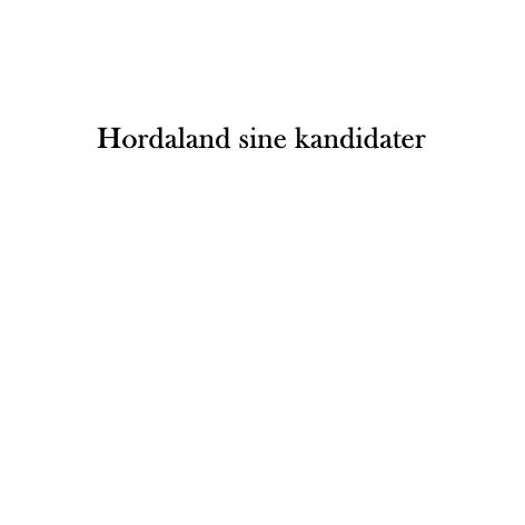 Hordaland sine kandidater